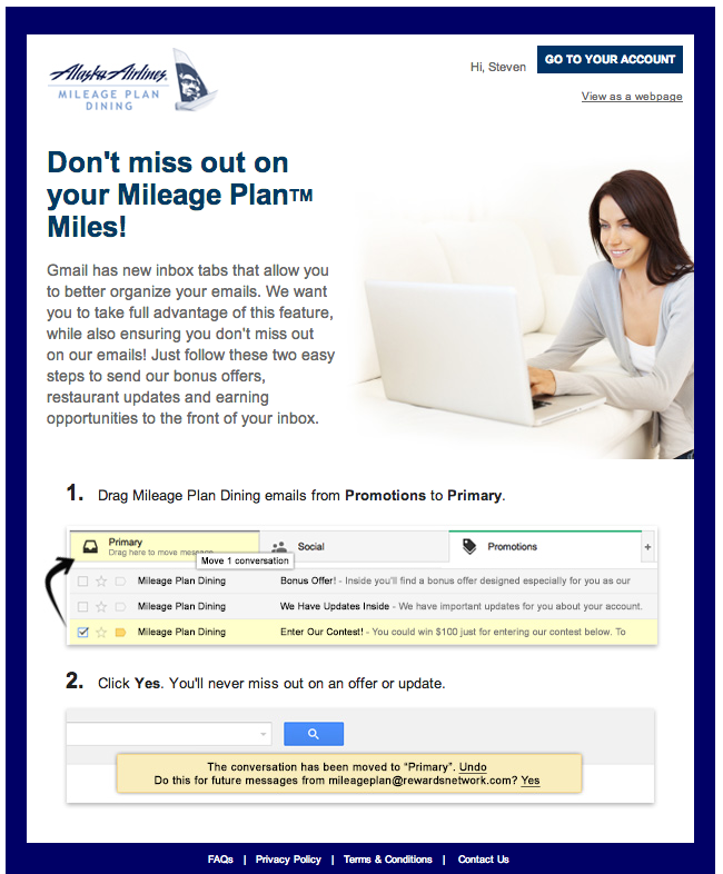 Alaska Airlines Gmail Email